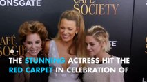 Blake Lively wows in bump-flattering dress at 'Cafe Society' premiere