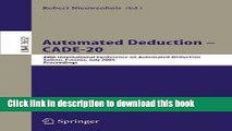Download Automated Deduction - CADE-20: 20th International Conference on Automated Deduction,