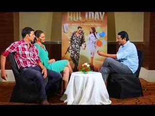 Parag Chhapekar with Akshay Kumar &Sonakshi Sinha