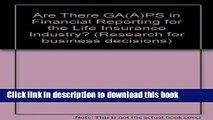 [PDF] Are There GA(A)PS in Financial Reporting for the Life Insurance Industry? (Research for
