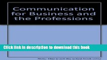 Read Communication for Business and the Professions E-Book Free