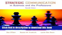 Download Strategic Communication in Business and the Professions (7th Edition)  PDF Online