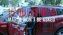 15 Questions Marco Won't Be Asked at the Debate | Marco Rubio for President