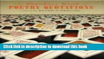 Read The Bloodaxe Book of Poetry Quotations ebook textbooks