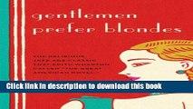 Download Gentlemen Prefer Blondes  EBook