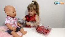 ✔ Кукла Беби Борн и девочка Ника. Видео для детей. Распаковка посылки. Новая одежда для игрушки ✔