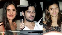 Sidharth Malhotra, Alia Bhatt At Katrina Kaif Birthday Bash 2016
