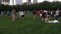 Mouvement de foule quand un Pokemon très rare est repéré dans un parc