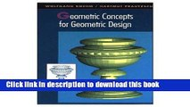 Read Geometric Concepts for Geometric Design Ebook Free
