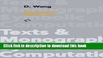 Download Elimination Methods (Texts   Monographs in Symbolic Computation) Ebook Online