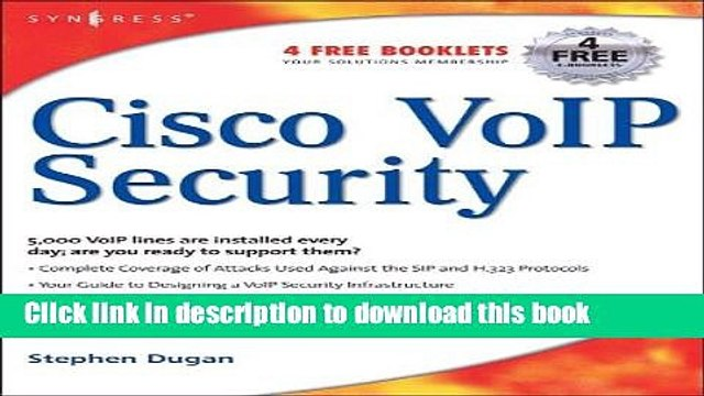 Download Cisco Voice Over IP Security Ebook Online