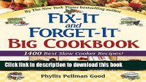 Download Fix-It and Forget-It Big Cookbook: 1400 Best Slow Cooker Recipes!  Ebook Free