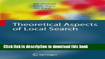 Read Theoretical Aspects of Local Search (Monographs in Theoretical Computer Science. An EATCS