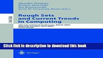Read Rough Sets and Current Trends in Computing: 4th International Conference, RSCTC 2004,