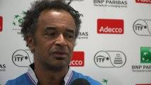 Tennis - Coupe Davis : Noah «Le plus dur c'est de tenir»