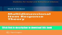 Read Book Multidimensional Item Response Theory (Statistics for Social and Behavioral Sciences)
