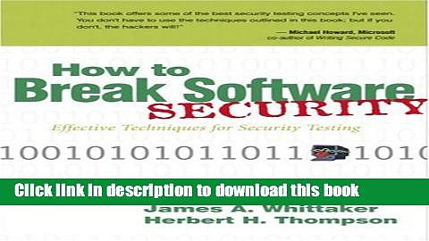 Read How to Break Software Security  PDF Free