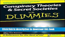 Read Conspiracy Theories and Secret Societies For Dummies Ebook Free