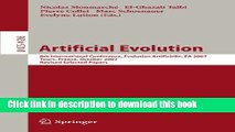 Read Artificial Evolution: 8th International Conference, Evolution Artificielle, EA 2007 Tours,