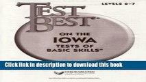 Download Test Best ITBS: Test Workbook  Grade 1 (Level 6 - 7) PDF Online
