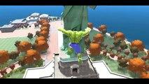 Hulk & Spiderman Car Fun! CARS Yellow & Green McQueen Avengers with Lightning McQueen_6
