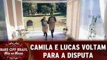 Camila e Lucas voltam para a disputa
