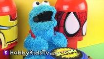 World's Biggest COOKIE MONSTER Surprise Egg! Sesame Street Toys HobbyKidsTV_24