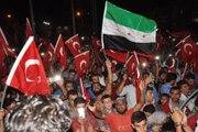 Darbe Girişimine Tepki Eylemine Suriyeliler de Destek Verdi