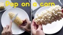 How to make Popcorn - Pop on a corn ♥ Превращение кукурузы в обычный попкорн
