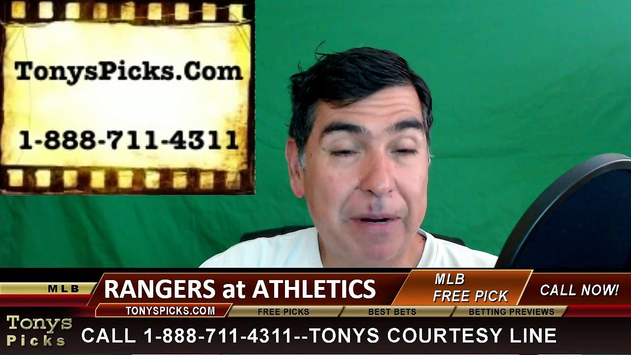 Texas Rangers vs. Oakland Athletics Pick Prediction MLB Baseball Odds Preview 6-13-2016