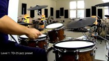 drum-tec pro-S series electronic drums with Roland TD-25 & ToontrackEZX Jazz