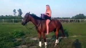 Mira lo que hace esta chica con este caballo