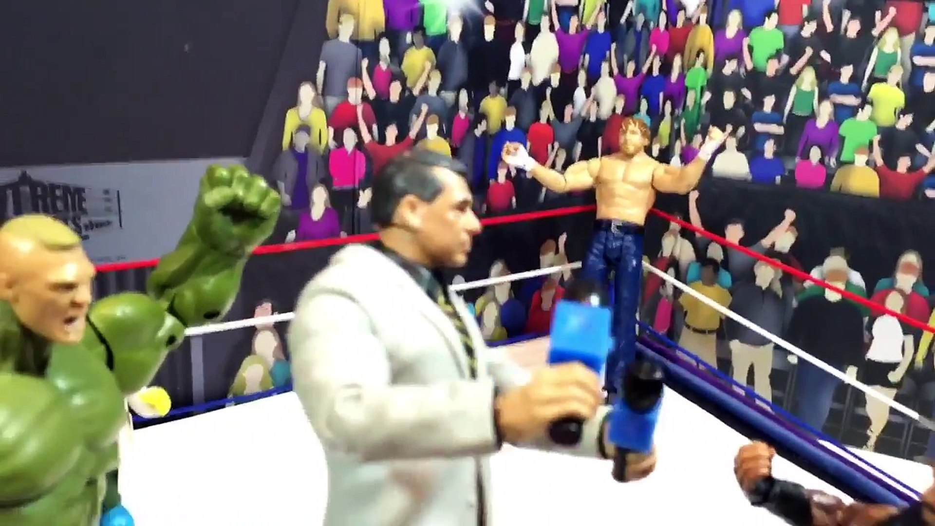 GTS WRESTLING: BROCK FAILS DOPE TEST! WWE Mattel Figure Animation PPV Event!