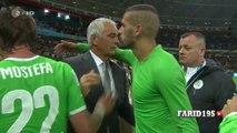 Les larmes de Feghouli et Halilhodzic après Allemagne Algérie