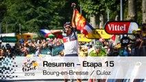 Resumen - Etapa 15 (Bourg-en-Bresse / Culoz) - Tour de France 2016