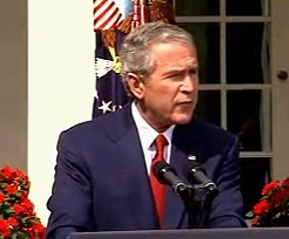 Bush talks about EXPLOSIVES