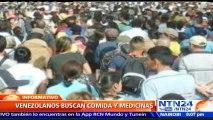 Impresionantes imágenes: Miles de venezolanos cruzan la frontera en busca de los productos que escasean en su país