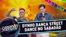 Dynho dança Street Dance no palco do Sabadão