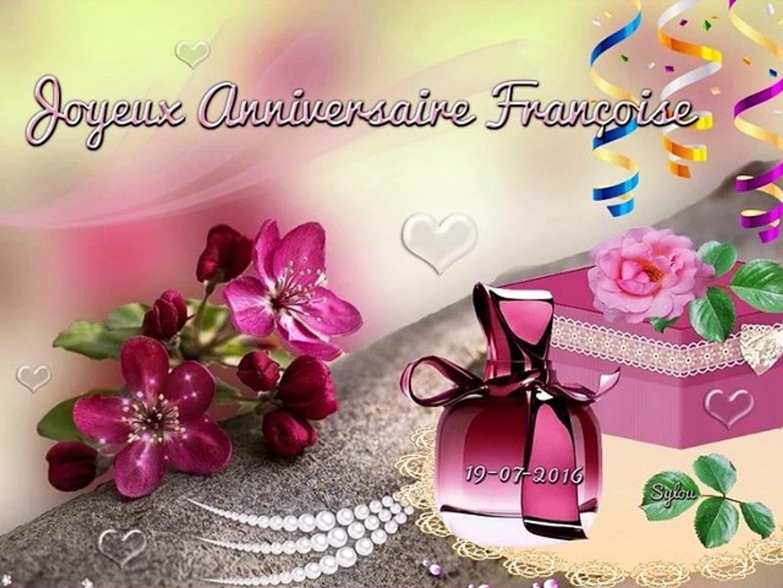 Bon Anniversaire Françoise Ansel-2016 - Vidéo Dailymotion