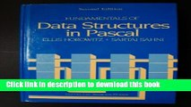 PDF Fundamentals of Data Structures in Pascal Free Books