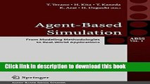 Read Agent-Based Simulation: From Modeling Methodologies to Real-World Applications: Post