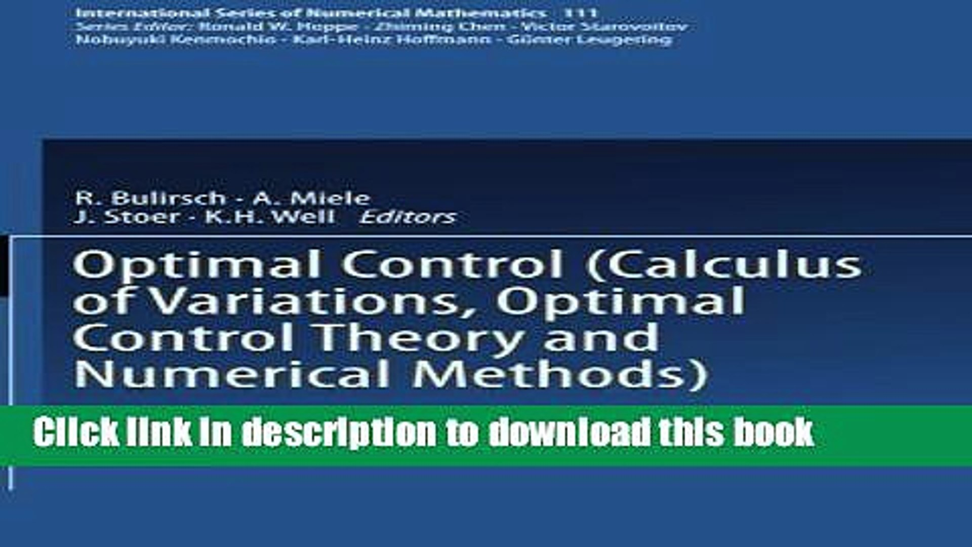 Calculus of Variations and Optimal Control Theory: A Concise Introduction