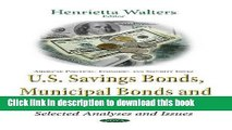 [PDF] U.s. Savings Bonds, Municipal Bonds and Tax-exempt Bonds: Selected Analyses and Issues