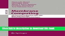 Read Membrane Computing: 5th International Workshop, WMC 2004, Milan, Italy, June 14-16, 2004,