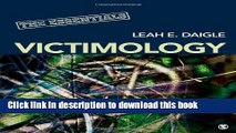 Read Victimology: The Essentials  PDF Online