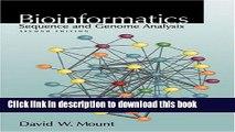 Read Bioinformatics: Sequence and Genome Analysis (Mount, Bioinformatics) Ebook Free
