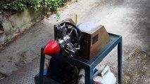 moteur saito FG 19 r3 au banc d'essais