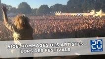 Attentat de Nice: Hommages des artistes pendant les festivals d'été