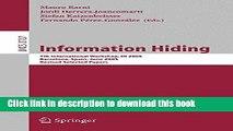 Read Information Hiding: 7th International Workshop, IH 2005, Barcelona, Spain, June 6-8, 2005,
