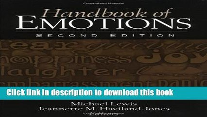 Read Book Handbook of Emotions, Second Edition E-Book Free